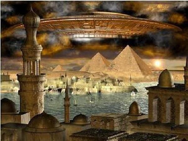 Ἡ διήγησις τοῦ Αἰγυπτίου ἱερέως εἰς τὸν Σόλωνα.