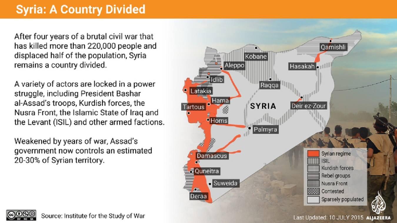 Ἡ κομματιασμένη Συρία!2