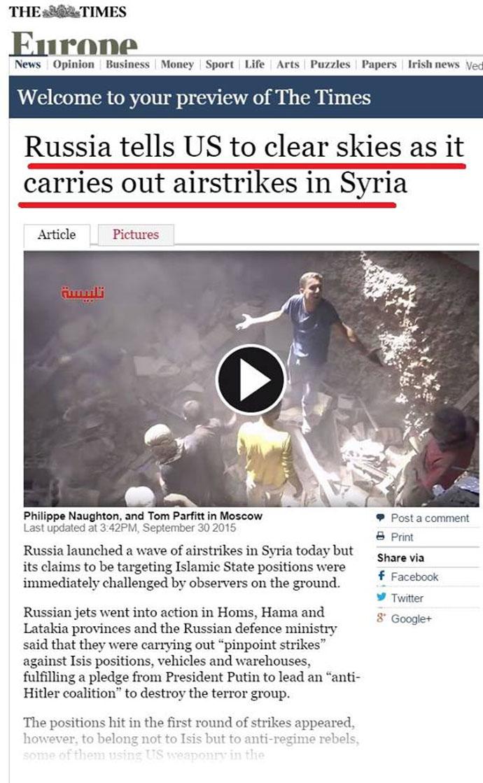 Τά ῥωσσικά στρατεύματα κτυποῦν τούς ...«ἐπαναστάτες» στήν Συρία κι ὄχι τήν ISIS;1