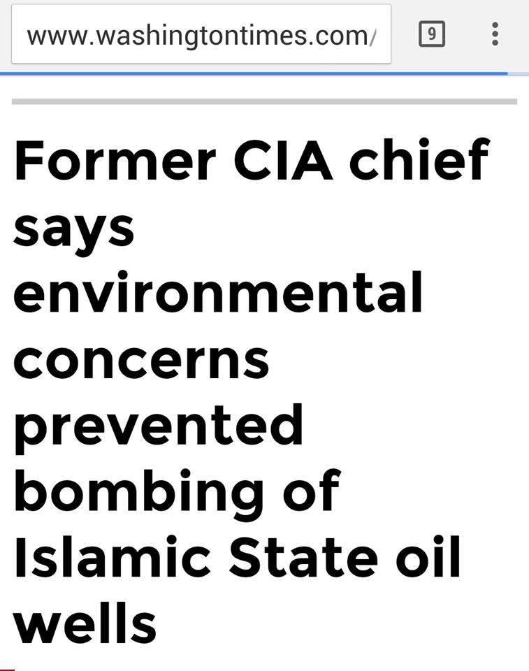 Γιατί οἱ ΗΠΑ δέν στοχοποίησαν τίς πετρελαιοπηγές πού ἐλέγχει τό ISIS;
