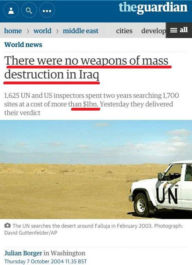 Ἀδίκως θρηνεῖ 1.500.000 νεκρούς καί μία καταστροφή τό Ἰράκ;1