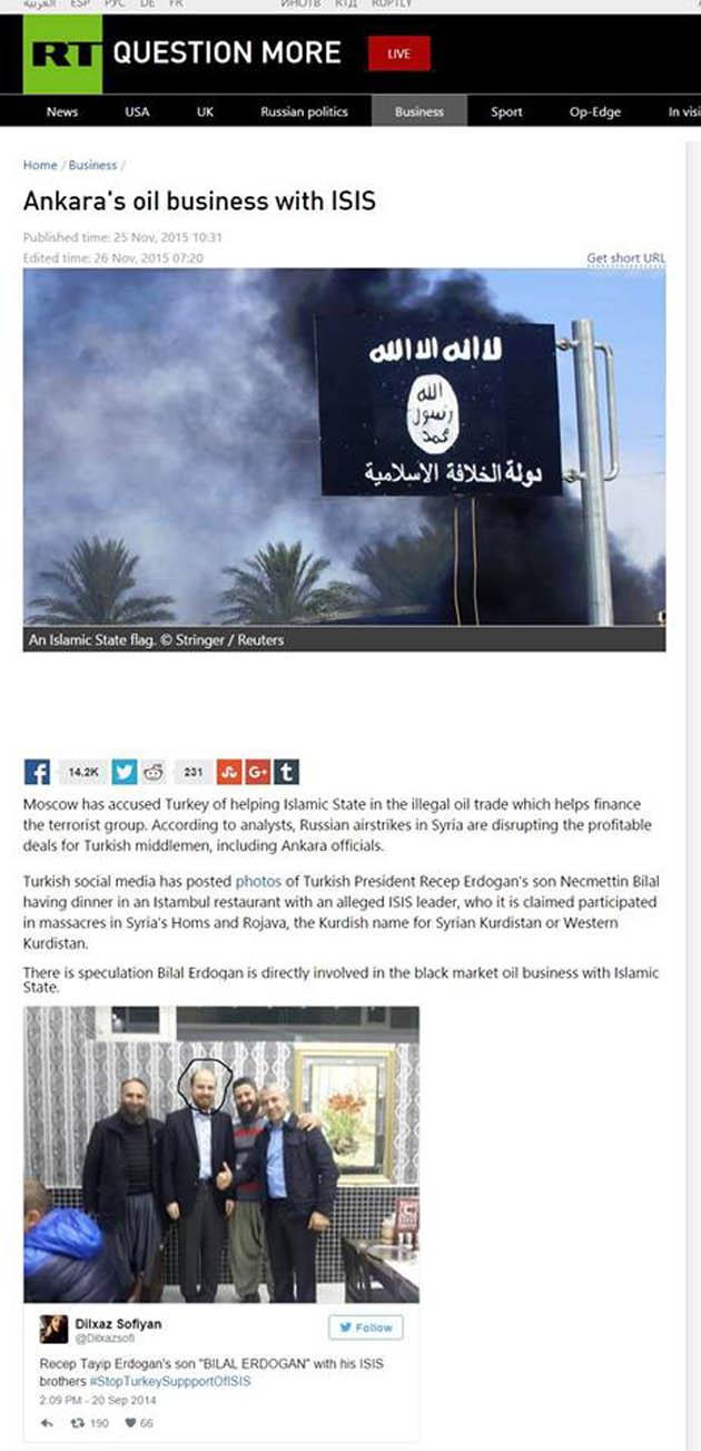 Ὁ υἱός Ἐρντογάν συνεργάτης τῆς ISIS;8