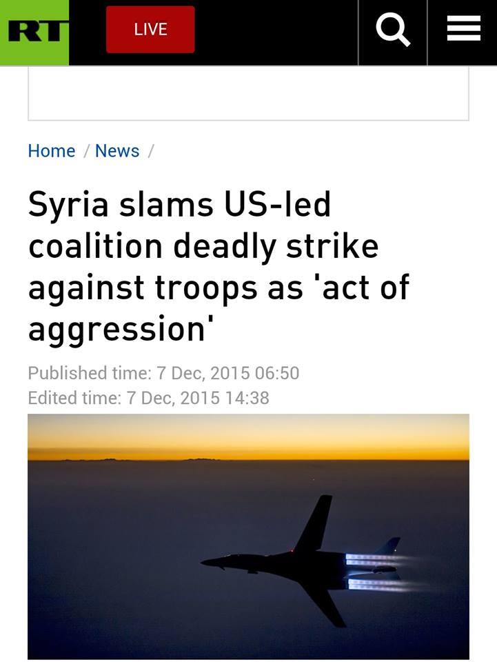 Τὰ ...«λάθη» τῶν ...«συμμάχων» μας σκοτώνουν μόνον Συρίους!!!1