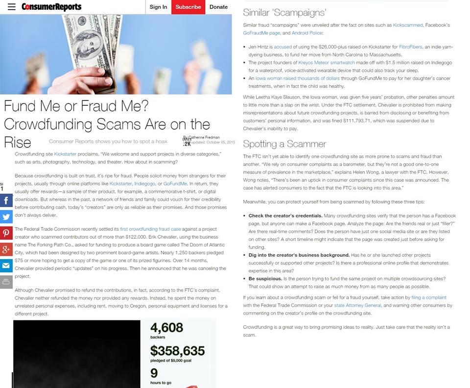 Τὸ νέο κόλπο ἁρπαγῆς μετρητῶν λέγεται crowdfunding!!!4