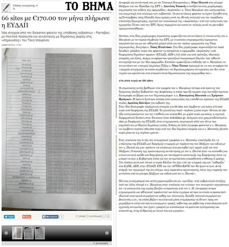 Μπουκωμένη κι ...«ἀνεξάρτητη» δημοσιογραφία!!!1