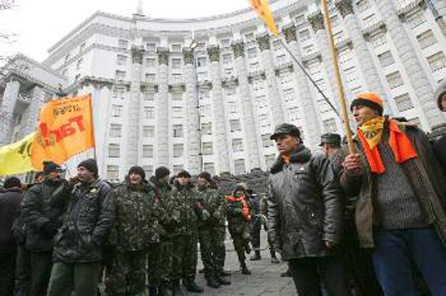Οπαδοί της «πορτοκαλί επαναστάσεως» στην Ουκρανία