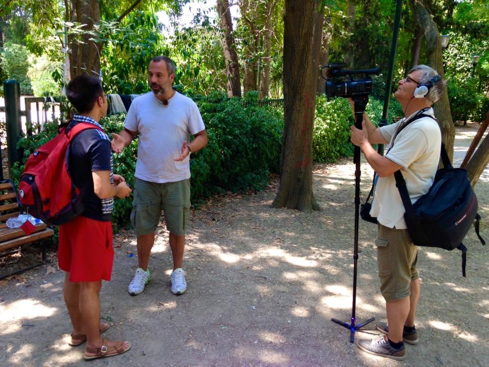 Συνέντευξη στη δημόσια Σουηδική τηλεόραση στο pedion areos