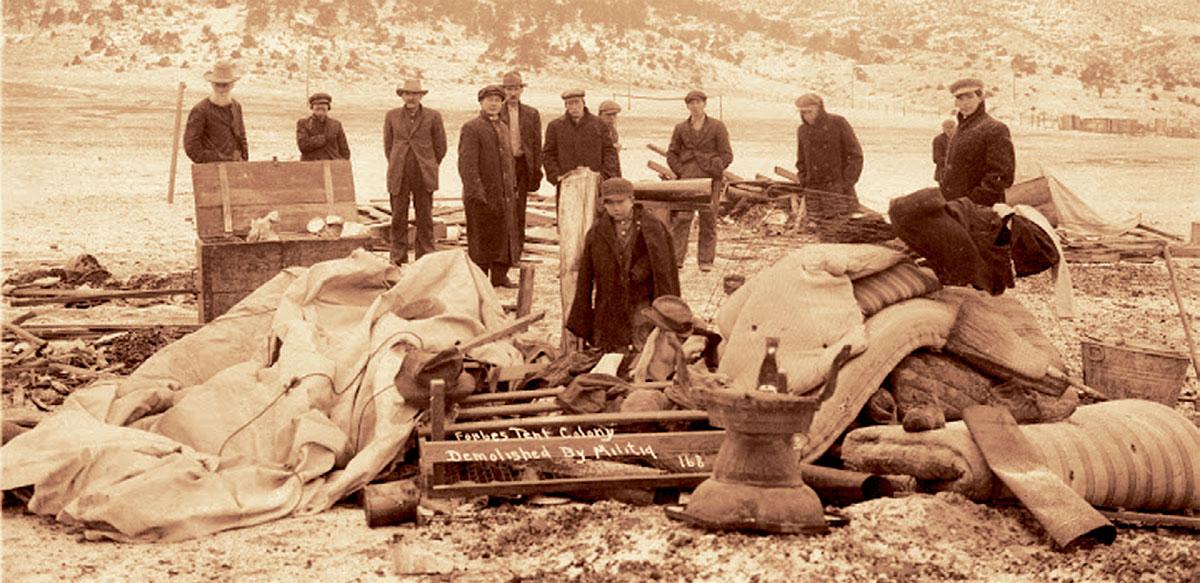 Η κοιλάδα του Λάντλοου μετά την μεγάλη σφαγή των απεργών και των οικογενειών τους από την πολιτειακή Εθνοφρουρά