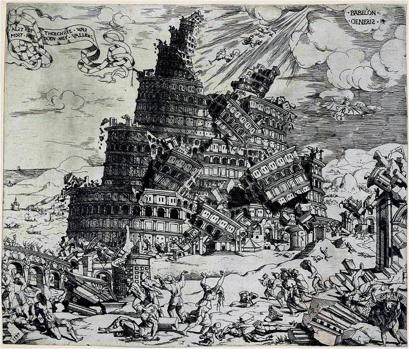 Cornelis Anthonisz, The Fall of the Tower of Babel, 1547