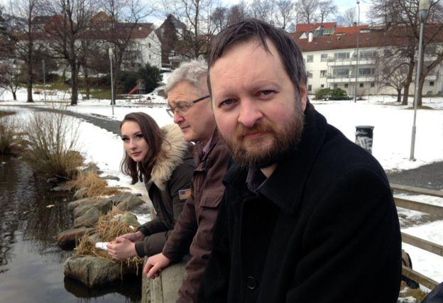 Ο Ερικ μαζί με τον πατέρα του και την αδερφή του